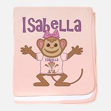 Little Monkey Isabella baby blanket