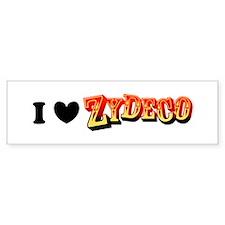 I (Heart) Zydeco Bumper Bumper Sticker