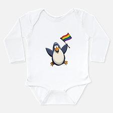 Pride Penguin Long Sleeve Infant Bodysuit