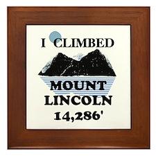 I Climbed Mount Lincoln Framed Tile