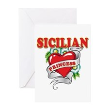Sicilian Princess Greeting Card
