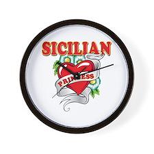 Sicilian Princess Wall Clock
