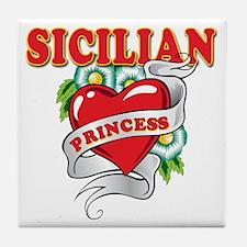 Sicilian Princess Tile Coaster