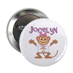 "Little Monkey Jocelyn 2.25"" Button"