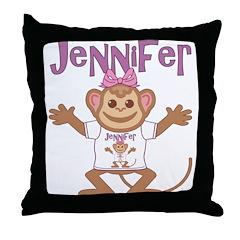 Little Monkey Jennifer Throw Pillow