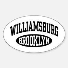 Williamsburg Brooklyn Sticker (Oval)