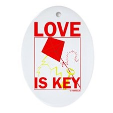 LOVE IS KEY Ornament (Oval)