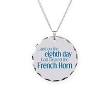 French Horn Creation Necklace Circle Charm