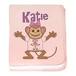 Little Monkey Katie baby blanket
