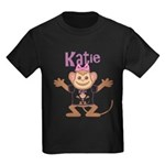 Little Monkey Katie Kids Dark T-Shirt