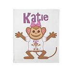 Little Monkey Katie Throw Blanket