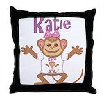 Little Monkey Katie Throw Pillow