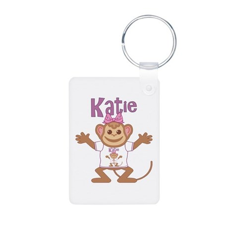 Little Monkey Katie Aluminum Photo Keychain