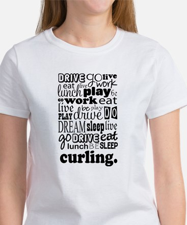Curling Gift Women's T-Shirt