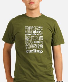 Curling Gift Organic Men's T-Shirt (dark)