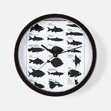 Funny Gone fishing Wall Clock