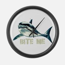 Bite Me Shark Large Wall Clock