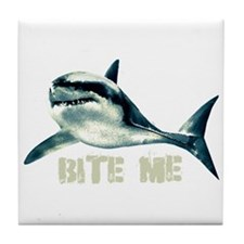 Bite Me Shark Tile Coaster