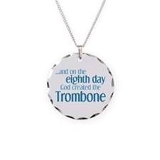 Trombone Creation Necklace Circle Charm