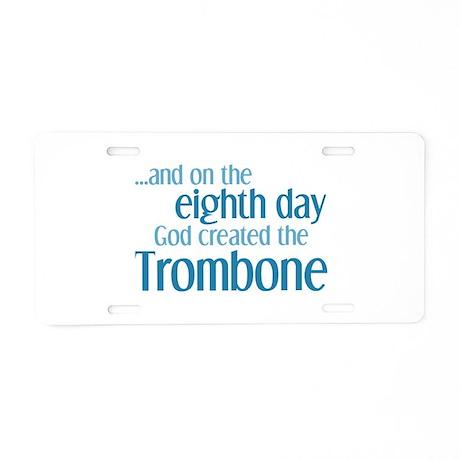 Trombone Creation Aluminum License Plate