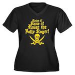 Raise The Jolly Roger Women's Plus Size V-Neck Dar