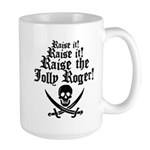 Raise The Jolly Roger Large Mug