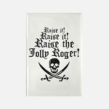 Raise The Jolly Roger Rectangle Magnet