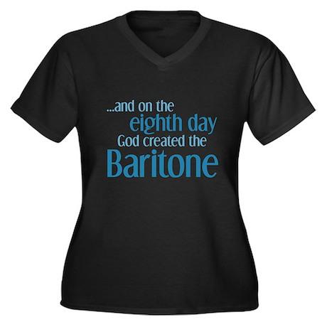 Baritone Creation Women's Plus Size V-Neck Dark T-