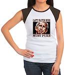 Bush makes me puke Women's Cap Sleeve T-Shirt