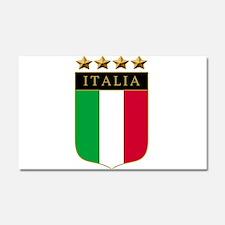 Italian 4 Star flag Car Magnet 20 x 12