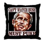 Bush makes me puke Throw Pillow