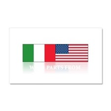 Italian pride Car Magnet 20 x 12