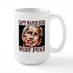 Bush makes me puke Large Mug