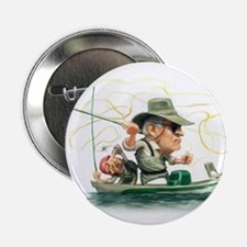 "Cute Fishing 2.25"" Button (100 pack)"