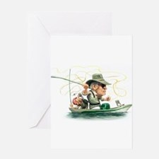 Funny Fly fishing Greeting Card