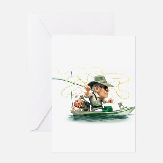 Cool Fly fishing Greeting Card