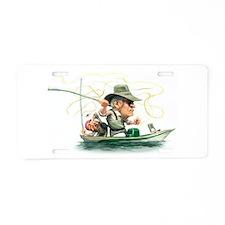 Cute Gone fishing Aluminum License Plate