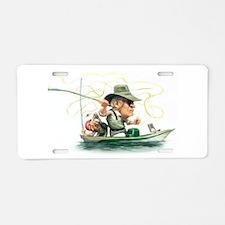 Funny Fishing Aluminum License Plate