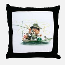 Unique Fishing lure Throw Pillow