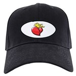 Burning Sacred Heart Black Cap