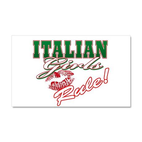 Italian Girls Rule Car Magnet 20 x 12
