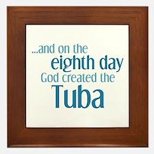 Tuba Creation Framed Tile