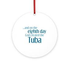 Tuba Creation Ornament (Round)