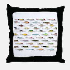 Cute Fishing lure Throw Pillow