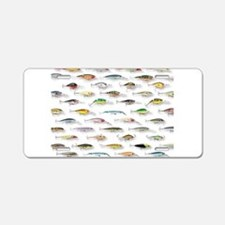 Unique Fishing Aluminum License Plate