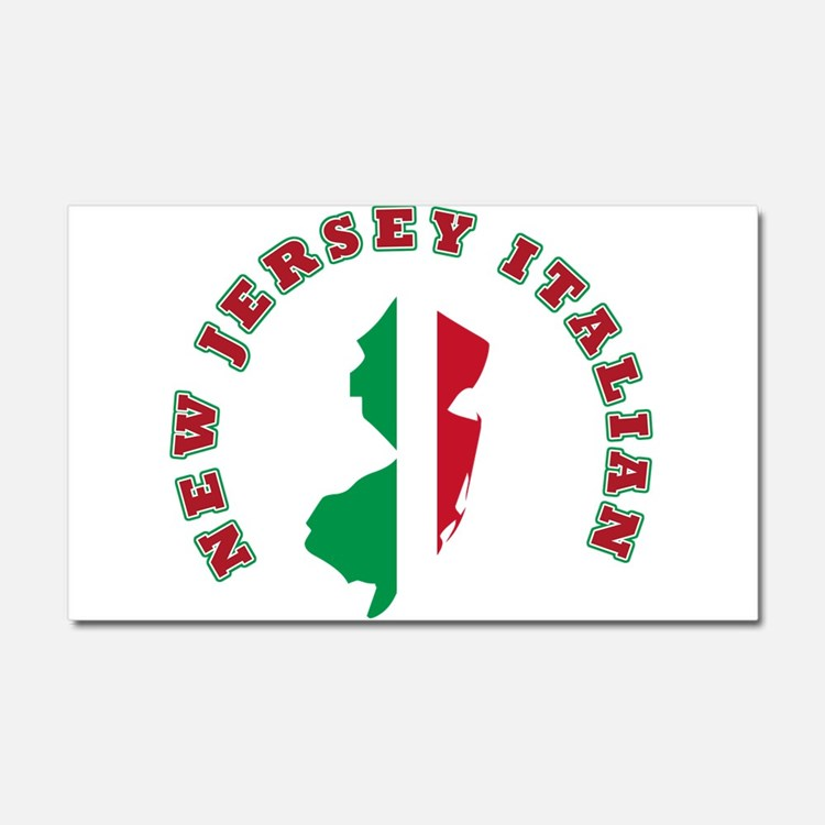 New Jersey Italian Car Magnet 20 x 12