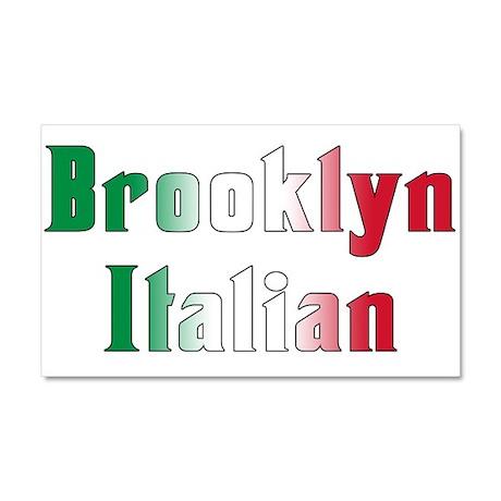 Brooklyn New York Italian Car Magnet 20 x 12