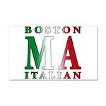 Boston Italian Car Magnet 20 x 12