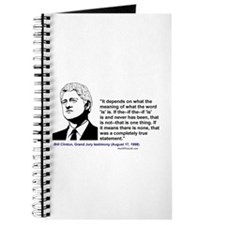 """Bill Clinton on the word """"is"""" Journal"""
