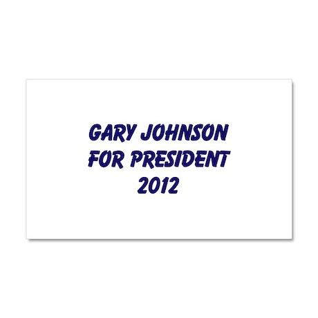 Gary Johnson For President 20 Car Magnet 20 x 12